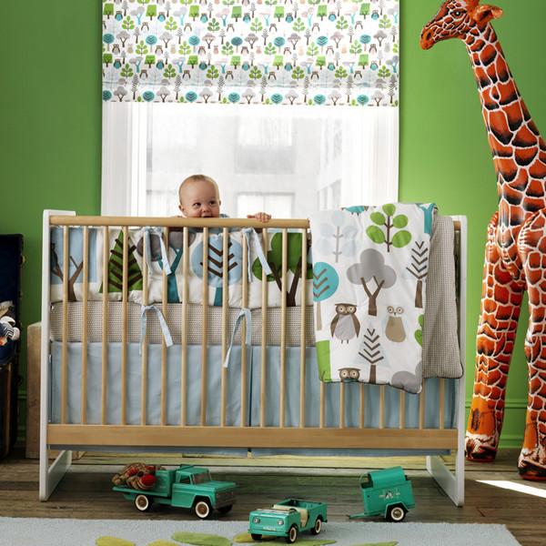 my baby bump blog nursery idea dwellstudio owl crib set